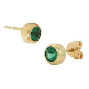 14k emerald studs 4mm