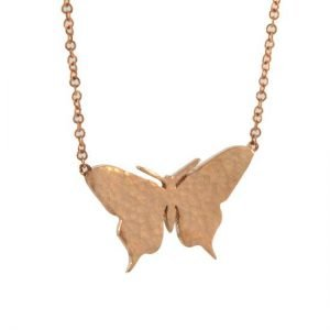 14k rg butterfly necklace