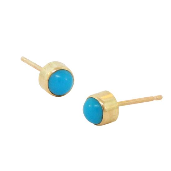 14k turquoise studs 4mm