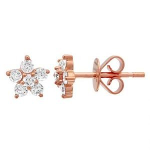 14kr diamond flower stud earring 8300dwe4rja11 1