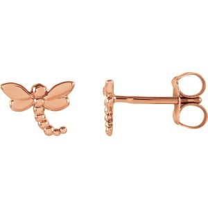 14kr dragonfly stud earrings 1