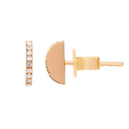 14kr gold pave diamond semi circle stud earrings 5765dwe4rxa11 3 1