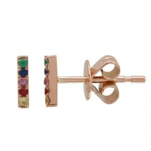 14kr rainbow bar studs small 7078mse4rra11 1