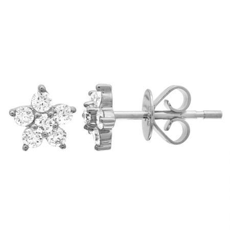 14kw diamond flower stud earring 8300dwe4wja11 1