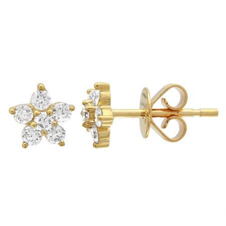 14ky diamond flower stud earring 8300dwe4yja11 1