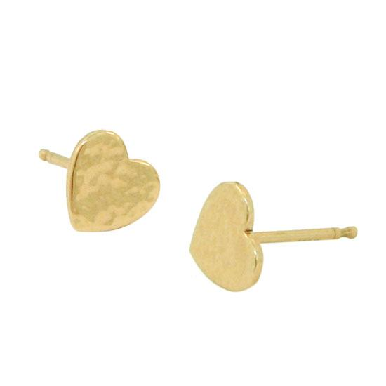 14ky heart studs large 1