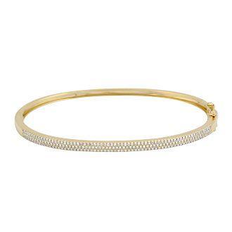 14ky triple row micro pave diamond hinged bracelet 5268dwl4yxa11 2