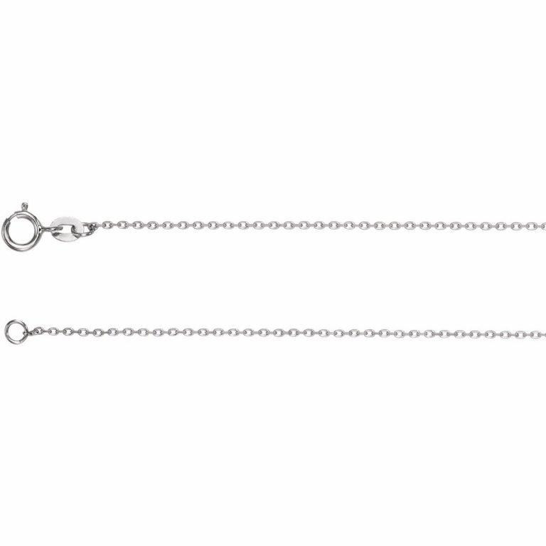 14 Karat Gold 1mm Diamond-Cut Cable Chain