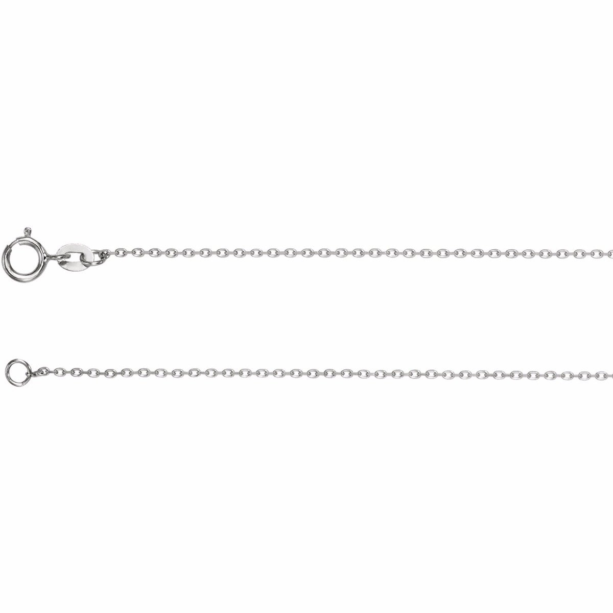 1mm diamond cut cable chain wg