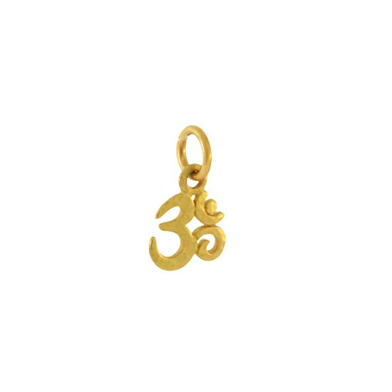 14k Yellow Gold Om Lotus Charm