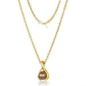 22k gold chocolate tahitian pearl diamonds necklace large 542da72a 54c5 4cb8 89d5 0bcfb7633eac
