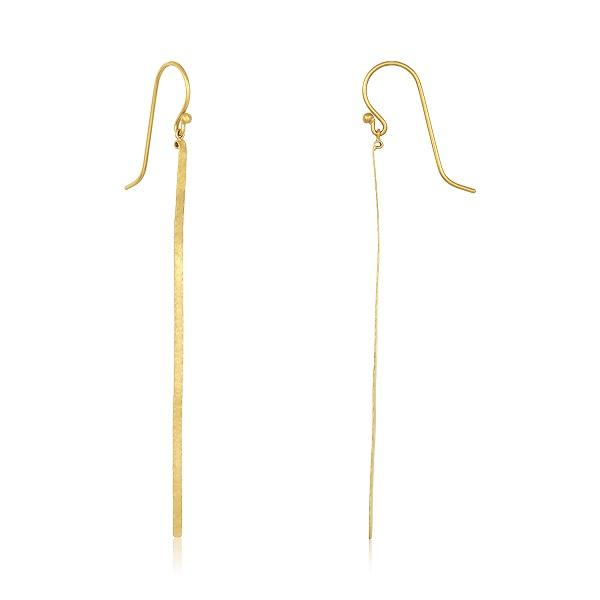 22K GOLD DROP STICK EARRINGS - DAVID TISHBI