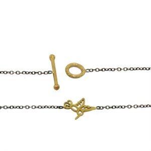 22k hummingbird sterling bracelet