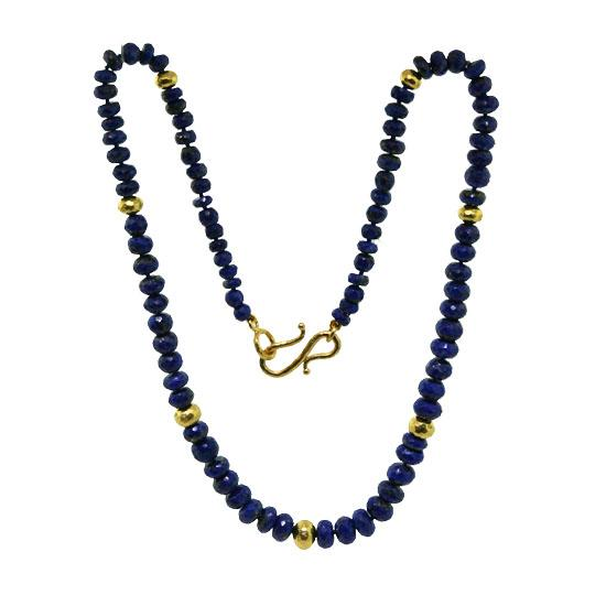 22k lapis bead necklace