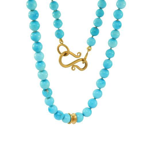 22k sleeping beauty turquoise beads