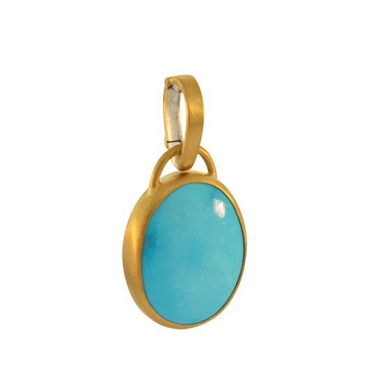 22k sleeping beauty turquoise pendant