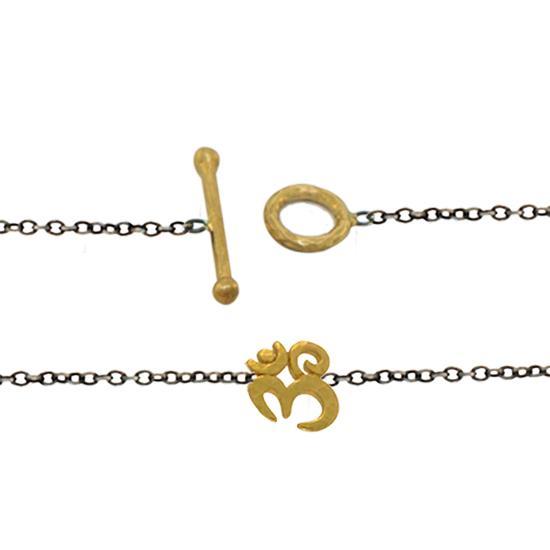 22k sterling om bracelet