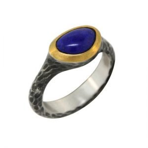 22k sterling silver lapis triangle ring angle