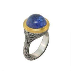 22k sterling tanzanite ring angle
