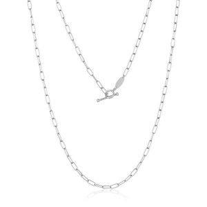handmade platinum chain toggle clasp