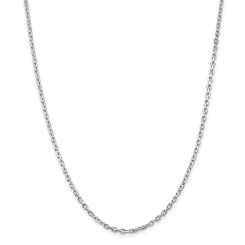 Sterling Silver Bevel Cable Chain 3mm