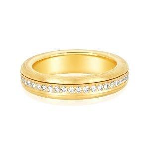 18 Karat Gold Diamond Spinner Eternity Ring