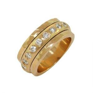 18k diamond spinner ring