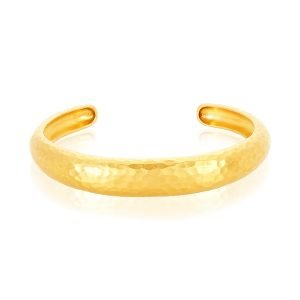 22K Gold Hammered Cuff Bracelet