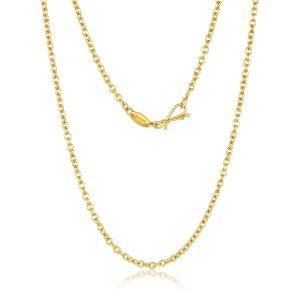 22K Gold Oval Links Chain And Hook Clasp