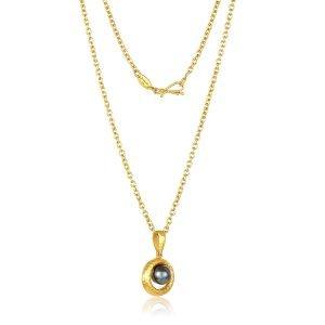 22 Karat Tahitian Chocolate Pearl Necklace