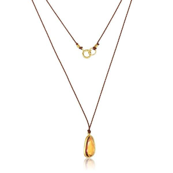 22 Karat Gold Spessarite Charm Necklace