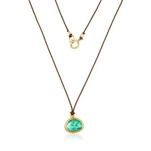 22 Karat Gold Wrapped Emerald Necklace