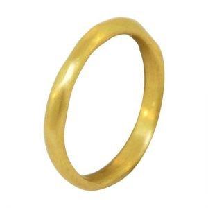 22k wavy ring