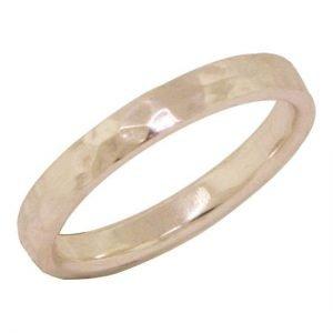 14 Karat Gold Hammered Ring