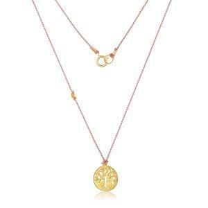 22 Karat Gold Tree of Life Charm Necklace