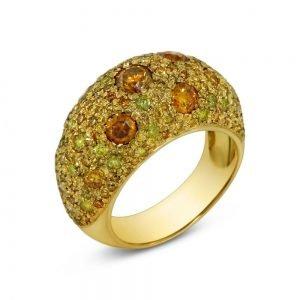 yellow diamond ring side
