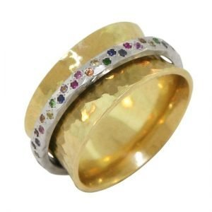 18ky 11h platinum sapphire spinner