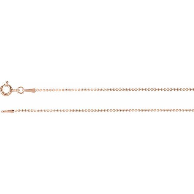 14 Karat Gold 1mm Bead Chain