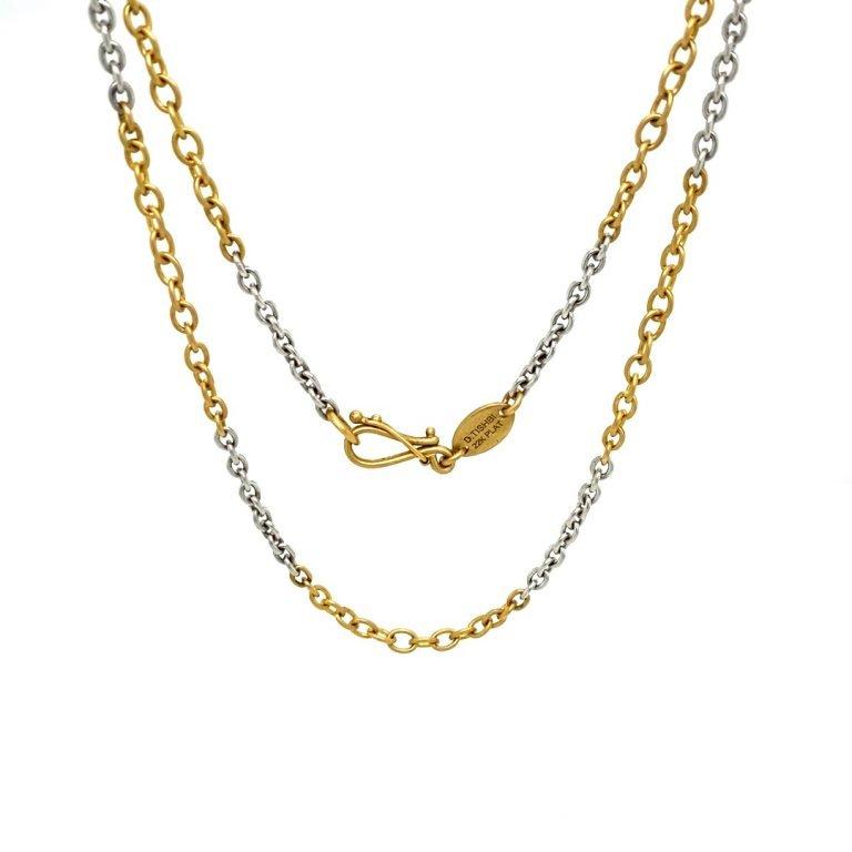 22 Karat Gold and Platinum Chain