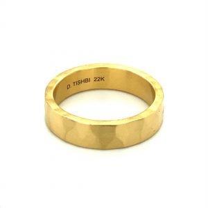 22k gold hammered ring 5mm  2020 12 14 12 13 51