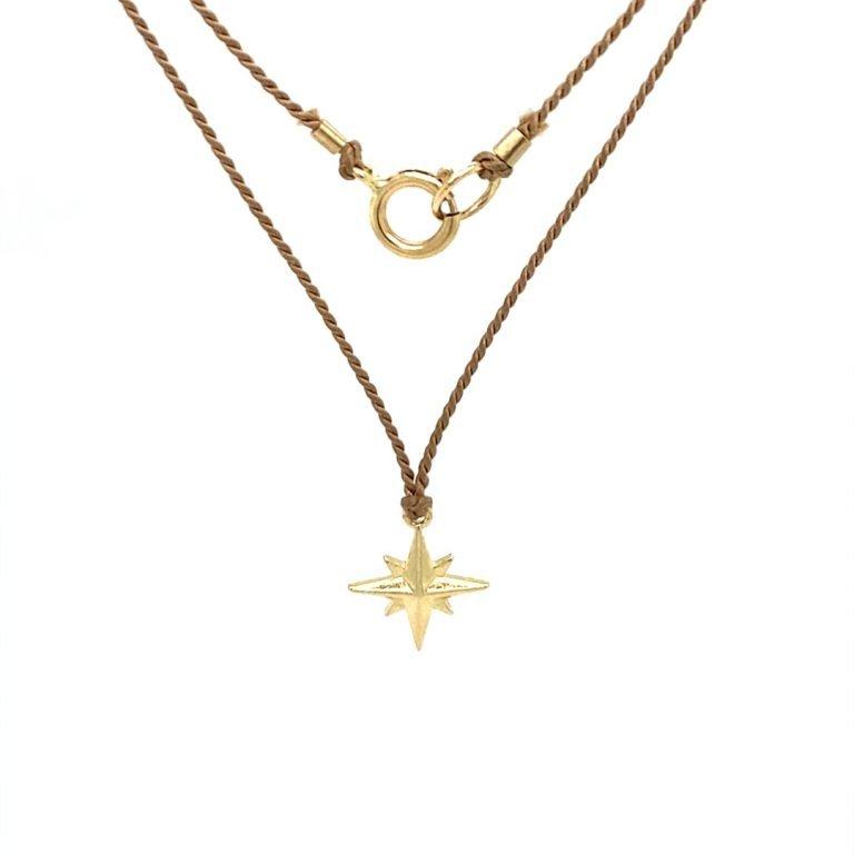 14 Karat Gold Celestial Star Necklace