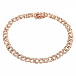 14 Karat Gold Diamond Chain Bracelet