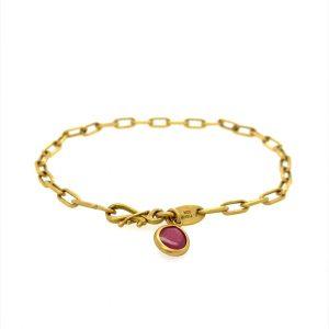 22 k bracelet w garnet charm  2021 04 12 11 58 10