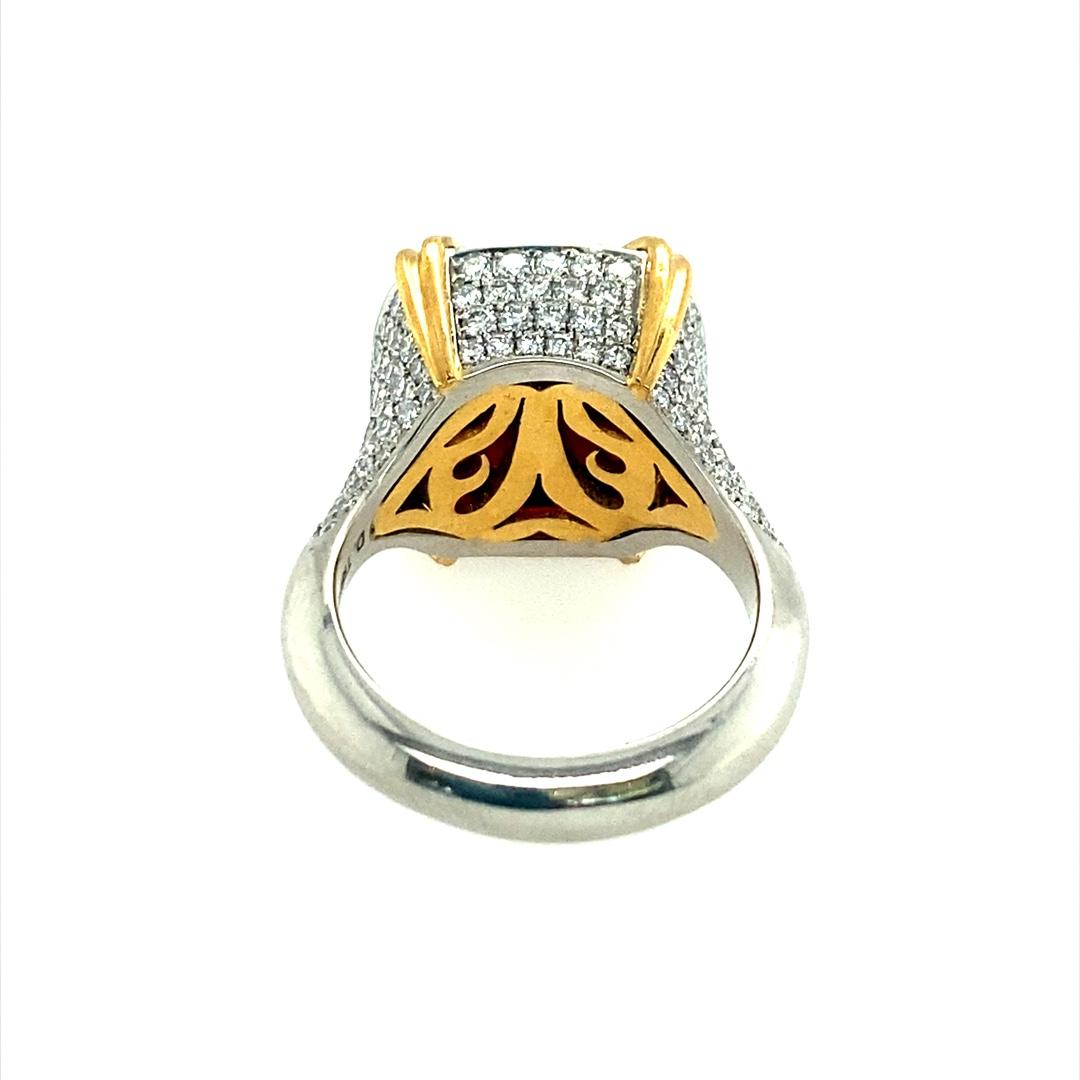 22k plat diamonds and garnet ring  2021 03 30 10 35 47