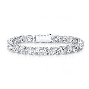 18 Karat Gold Round Diamond Tennis Bracelet