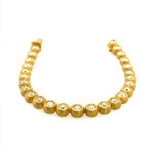 22 Karat Gold Diamond Bubbles Unisex Bracelet